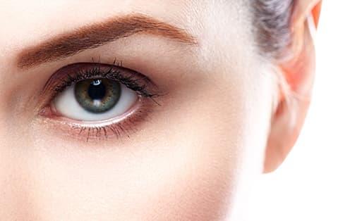 Beautiful woman eye close up