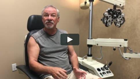 Screenshot of James' Patient Story Video
