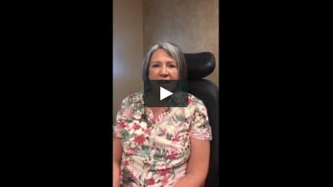 Screenshot of Joanne's Patient Story Video