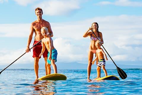 Paddleboarding Family