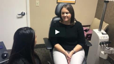 Screenshot of Sarah's Patient Story Video