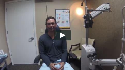 Screenshot of Zack's Patient Story Video